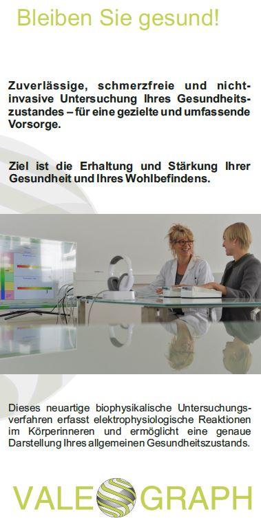 Texter Bielefeld: Referenz VALEOGRAPH Deutschland GmbH. Konzept und Text des Patientenflyers stammen von Karin Dippel, Text-Agentur NA SO WAS