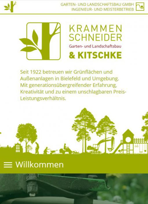 Texter Bielefeld: Referenz Krammenschneider und Kitschke GmbH, Bielefeld / Der Text der Website stammt von Karin Dippel, Text-Agentur NA SO WAS