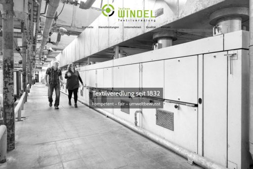 Texter Bielefeld: Website TexTeam Windel, Referenz